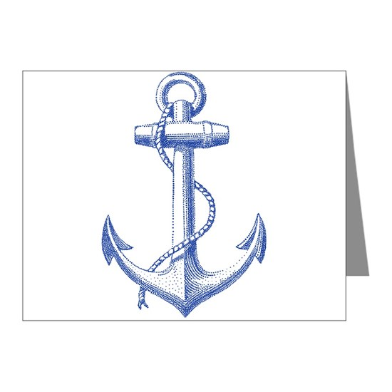 vintage navy blue anchor