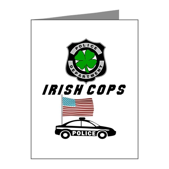 Irish Police: Irish Cops Note Cards (Pk Of 20) Irish Police Officers