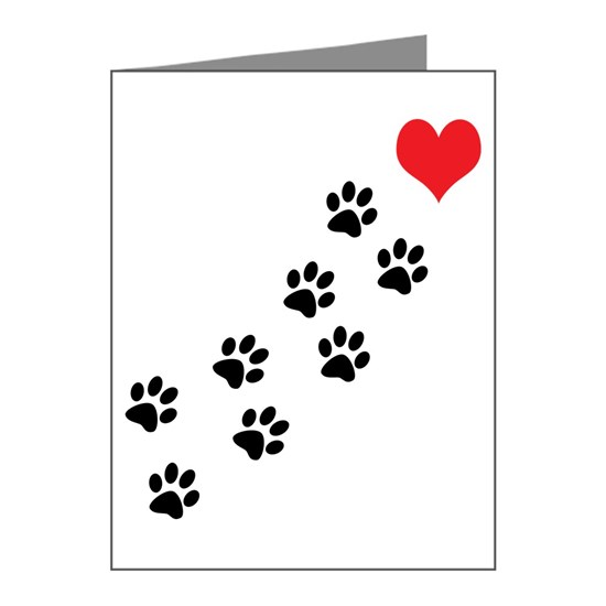 pawprints to heart