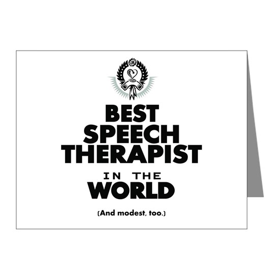 The Best in the World Speech Therapist Note Cards (Pk of
