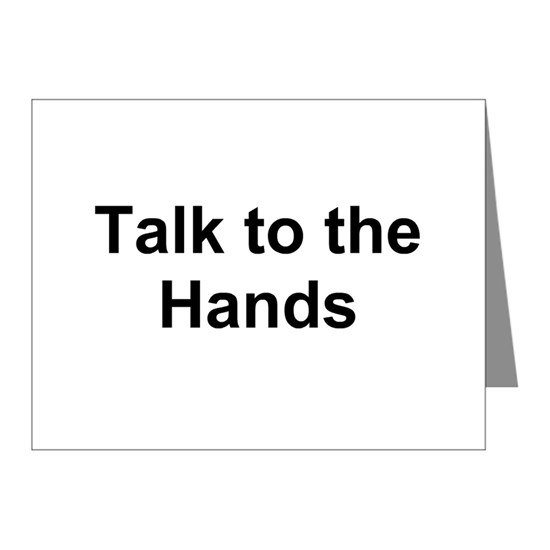 TEXT Talk to the Ha... Note Cards (Pk of 20) by Steno