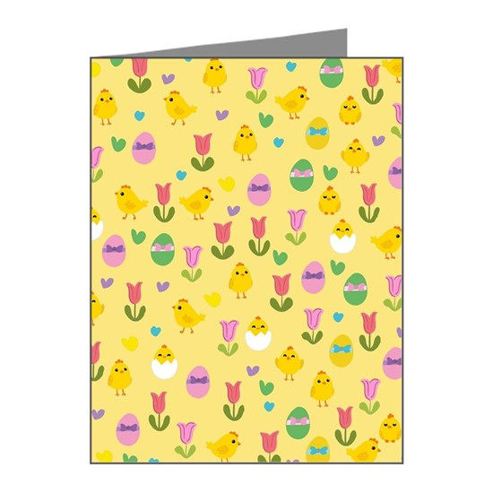 Easter - chick and tulips pattern