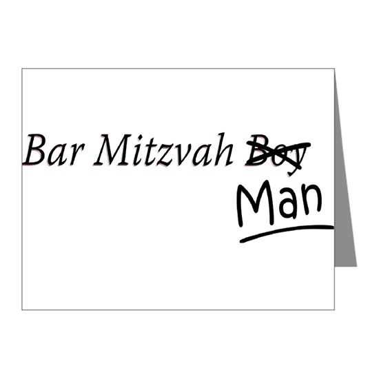Funny Bar-Mitzvah B... Note Cards (Pk of 20) Funny Bar