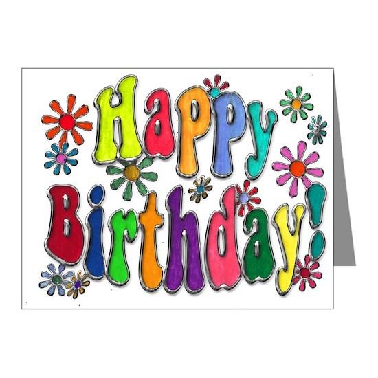 Happy Birthday Word Art Flowers copy