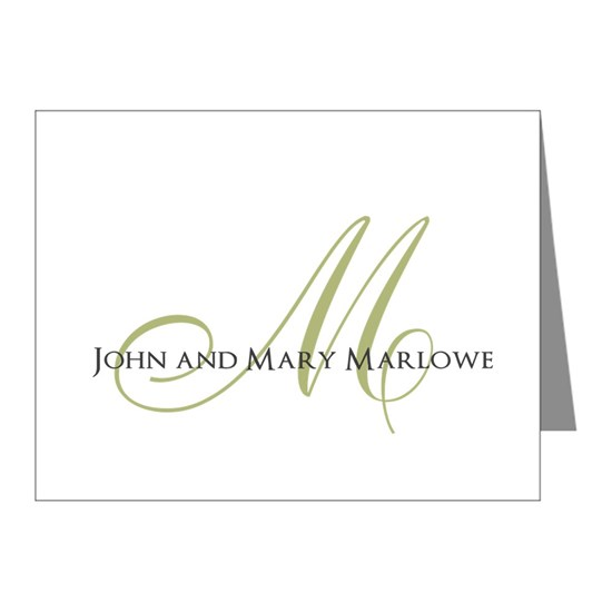 Names and Monogrammed Initial