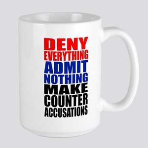 Deny Everything Large Mug