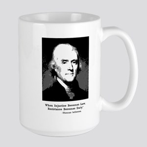 Jefferson Quote 15 Oz Mug Mugs