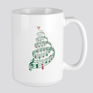 Christmas tree with music notes and heart Large Mu