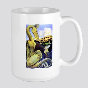 The Reluctant Dragon by Maxfield Parris Large Mug