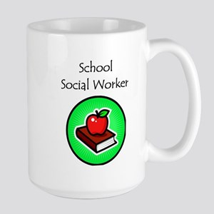 School Social Worker Large Mug