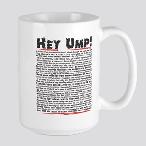 Hey Ump Baseball Large Mug