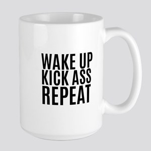 Wake Up Kick Ass Repeat Mugs
