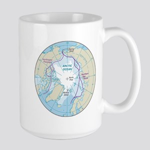 Arctic Circle Map Large Mug