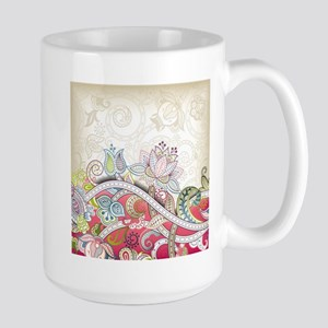 Abstract Floral Mugs