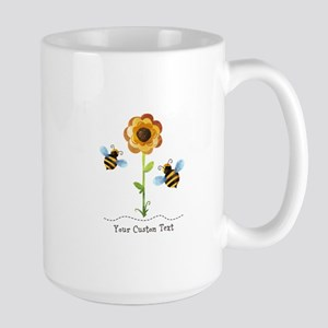 Sunflower Bees Personalized Mugs