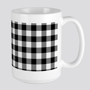 Black and White Gingham Checked Pattern Mugs