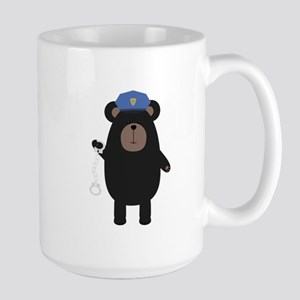 Police Black Bear and handcuffs Mugs