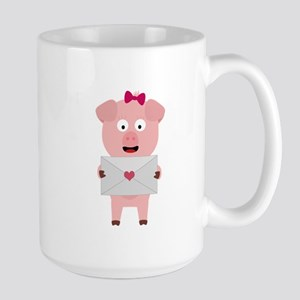 Female Pig with Loveletter Mugs