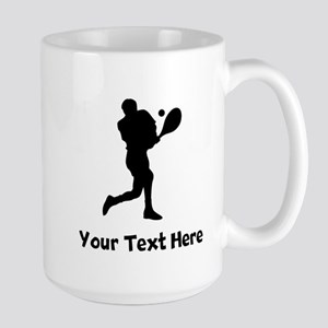Tennis Player Silhouette Mugs