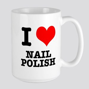 I Heart (Love) Nail Polish Large Mug