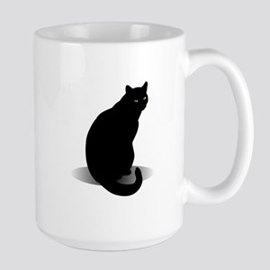 Basic Black Cat Large Mug
