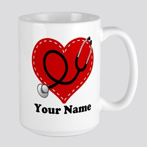 Personalized Nurse Heart Mugs