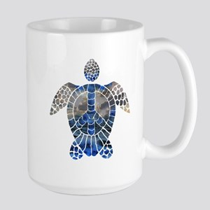 Sea Turtle Peace Large Mug