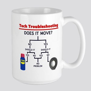 Tech Troubleshooting Flowchart Large Mug