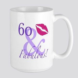 60 And Fabulous! Large Mug