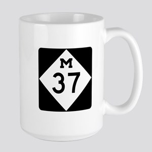 M-37, Michigan Large Mug