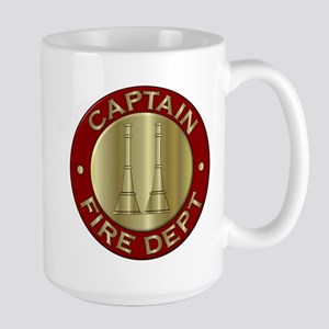 Fire captain emblem bugles 15 oz Ceramic Large Mug