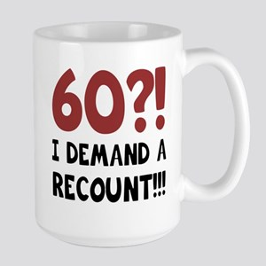 60th Birthday Gag Gift Large Mug
