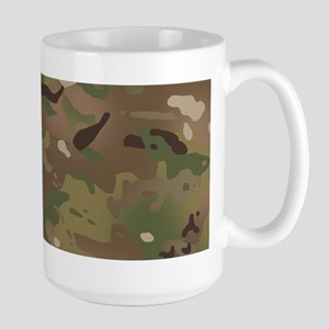 Military Camouflage Patte 15 oz Ceramic Large Mug