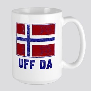 Uff Da Norway Flag Large Mug