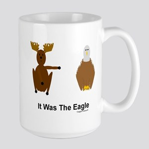 Moose Blames Eagle Large Mug