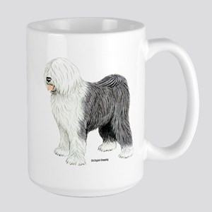 Old English Sheepdog Large Mug
