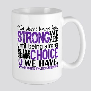 Domestic Violence HowStrongWeAre Large Mug