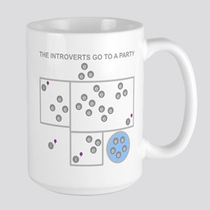 The Introverts Go To a Party Large Mug