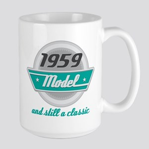 1959 Birth Year Birthday Chrome 15 oz Ceramic Larg