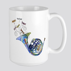 Wild French Horn Large Mug