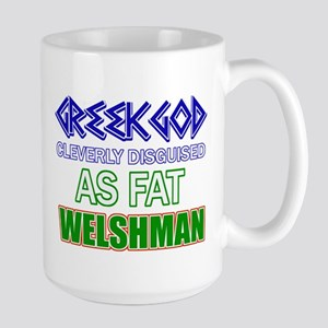 Fat Welsh designs Large Mug