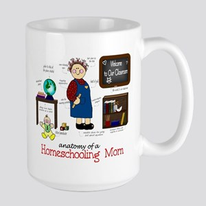 Homeschool Mom Anatomy Large Mug