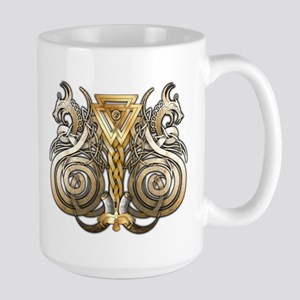 Norse Valknut Dragons Large Mug