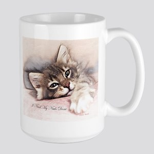 Kitten Nails Large Mug