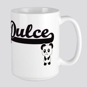 Dulce Classic Retro Name Design with Panda Mugs