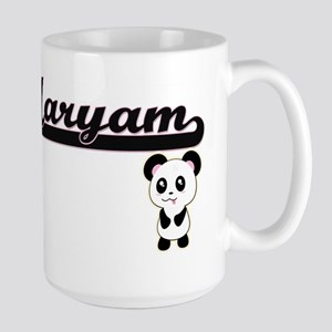 Maryam Classic Retro Name Design with Panda Mugs