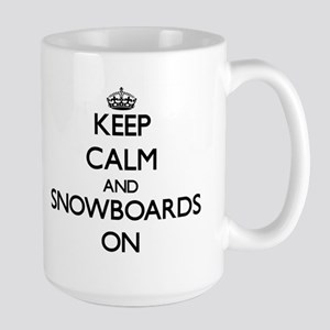 Keep Calm and Snowboards ON Mugs