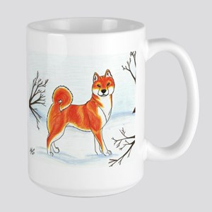 Shiba In The Snow Mug