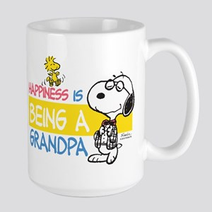 Happiness is being a Grandpa Large Mug