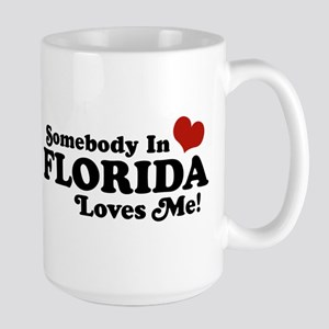 Somebody In Florida Loves Me Large Mug